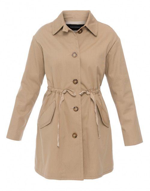 Tara Jarmon Halsbrook Fashion Trench Khaki Outerwear Coat g1RnETqwAx