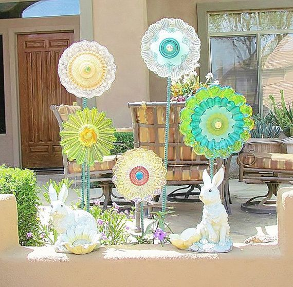 Sale Garden Art Decor Vin Glass Garden Flowers Garden Art