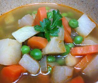 Cukkini Virág gasztroblog - receptek és tippek: Tavaszi zöldségleves - fresh spring veg soup