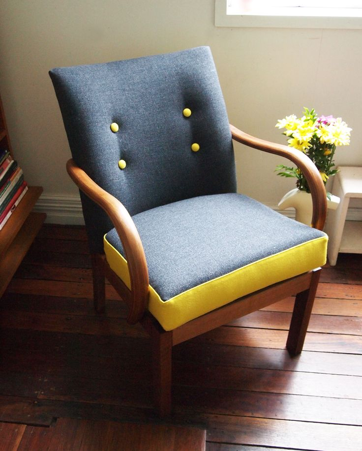 Parker Knoll via down tat little lane - love the charcoal and yellow combo