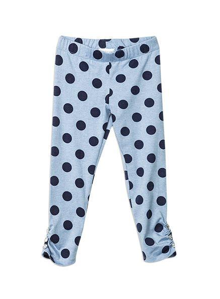 Pumpkin Patch - leggings - spot full length legging - W5TG60007 - blue marle - 12-18m to 6