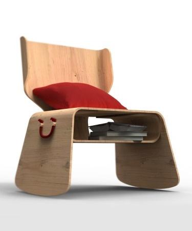 Rita Chair By Daniel Pera Plywood With Storage 1947