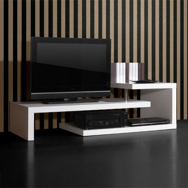 Tv Stand In White Creative Execution Wall Units