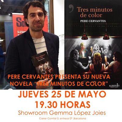 """El próximo jueves 25 de Mayo a las 19.30 horas, en nuestro showroom presentaremos la última novela de Pere Cervantes """"Tres Minutos de Color"""" en exclusiva para nuestros clientes."""