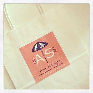 Wedding welcome bag stickers   Custom by Nico and Lala