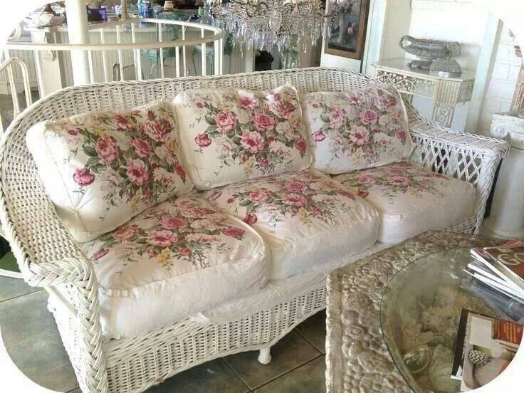 Romantic Cottage; those cushions... So thick and they look comfy squishy....