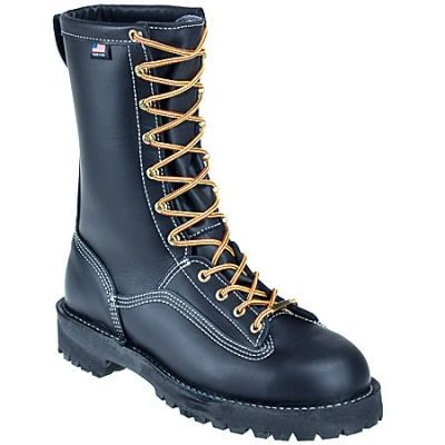Danner Boots: Men's Black 11700 Waterproof USA-Made Insulated Rain Forest Work Boots #CarharttClothing #DickiesWorkwear #WolverineBoots #TimberlandProBoots #WolverineSteelToeBoots #SteelToeShoes #WorkBoots #CarharttJackets #WranglerJeans #CarhartBibOveralls #CarharttPants