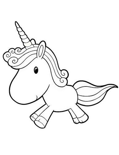 Dibujos de Unicornios para Ni os unicorn party