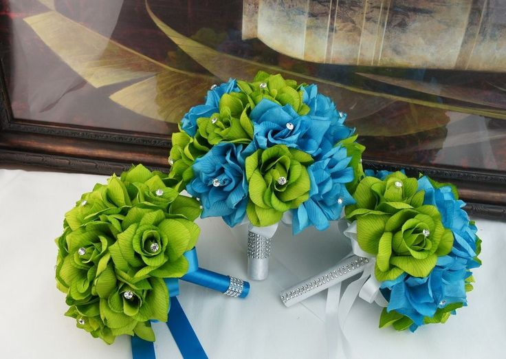 Pictures Of Wedding Party Flowers : Ideas about lime green dresses on