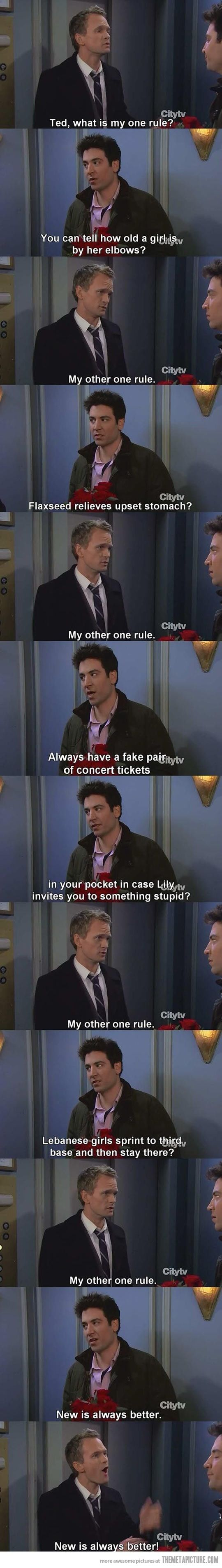 My one rule!