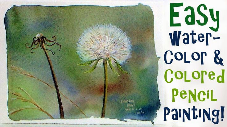 53:40     LIVE Dandelion Fluff in Watercolor & Colored Pencil Painting Tutorial