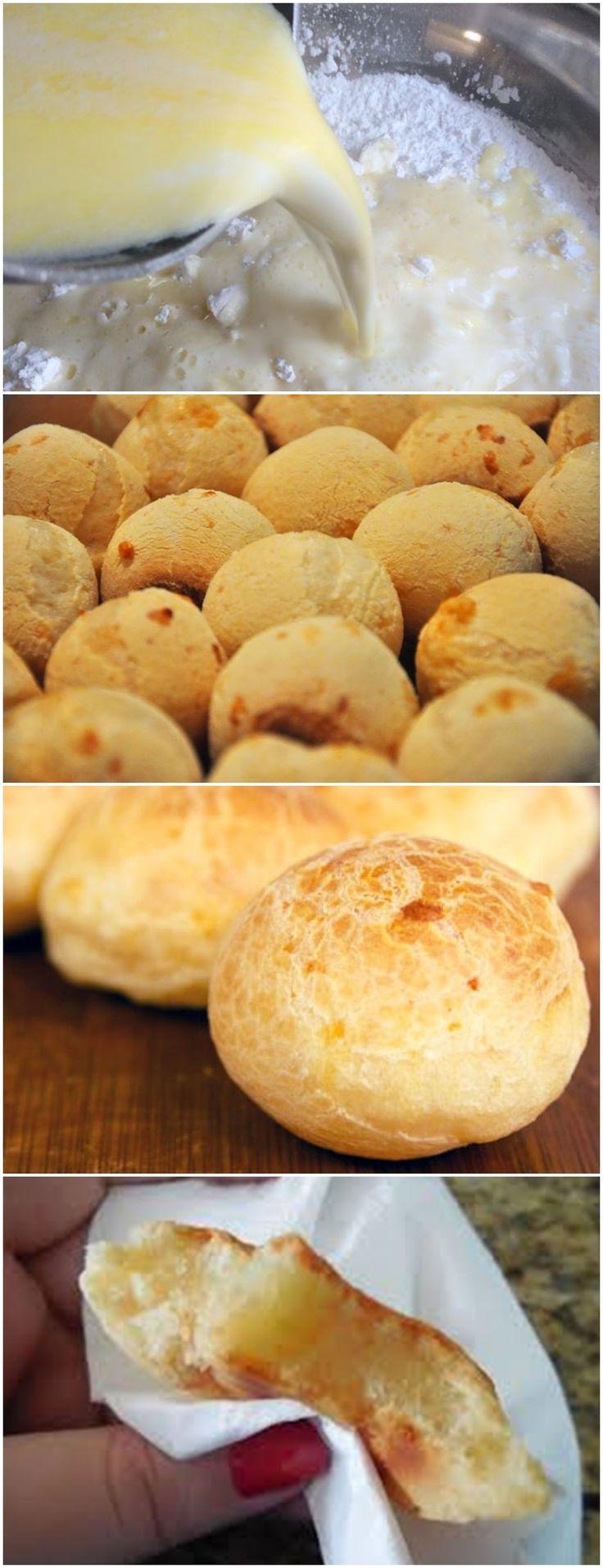 Pão de Queijo – Forno de Minas VEJA AQUI>>>Coloque o polvilho em uma bacia grande e reserve. Numa panela aqueça o leite, o óleo e o sal. #massa#pão#de#queijo