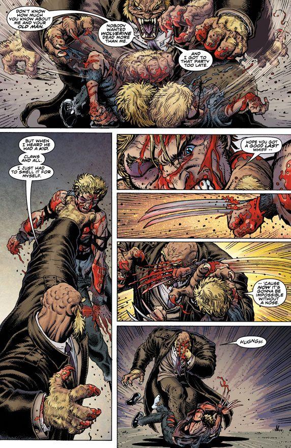 Wolverine's Son Vs Sabretooth in Ultimate X #5 - Comic Vine