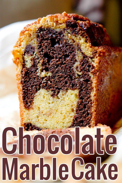 Chocolate Marble Cake Recipe. A favorite from my childhood, which I now make from scratch for a much more vibrant flavor!