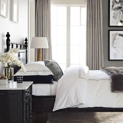 How to make a hotel bed - fold back and tuck in top sheet, double fold the top of duvet - faux fuzzy throw is nice.