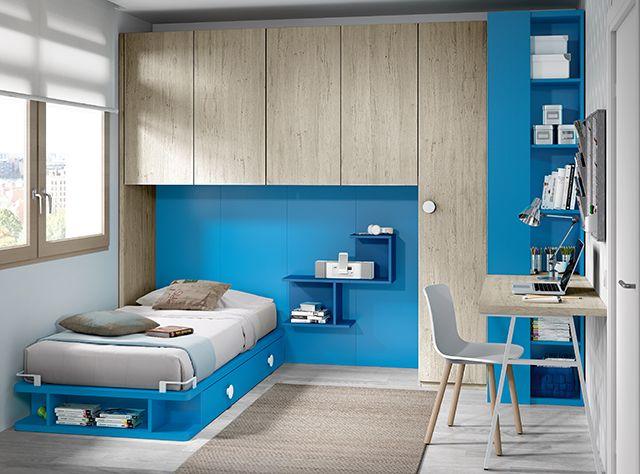 Entre las tendencias de este 2017 triunfan el azul en diferentes versiones: un azul más relajante y un azul más intenso que dota de fuerza y energía a las habitaciones juveniles.