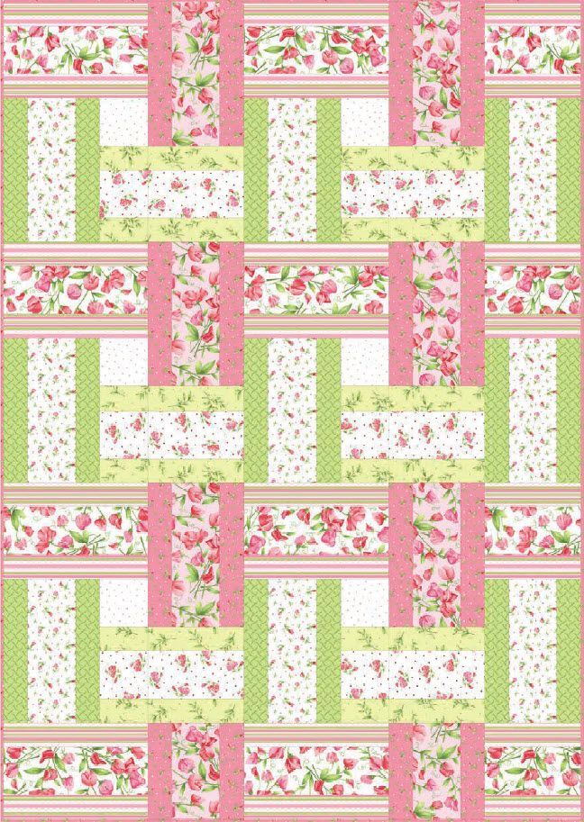 Sweet Pea Sweet Weave Free Quilt Pattern Strip Quilt Patterns Quilts Girl Quilts Patterns