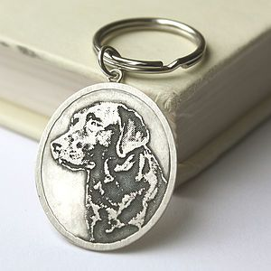 Personalised Silver Pet Photo Keyring