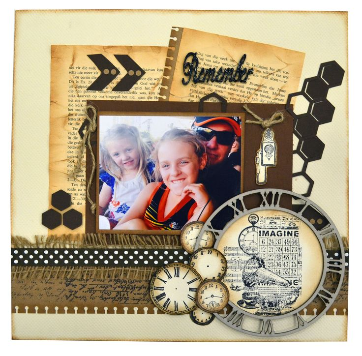 REMEMBER AND IMAGINE SCRAPBOOK PAGE