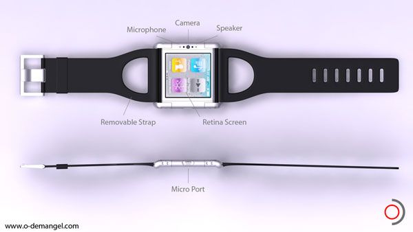 """Do you hold your wrist up to your ear to talk? How very Star Trek! Concept Mockup of """"iPhone Nano"""""""