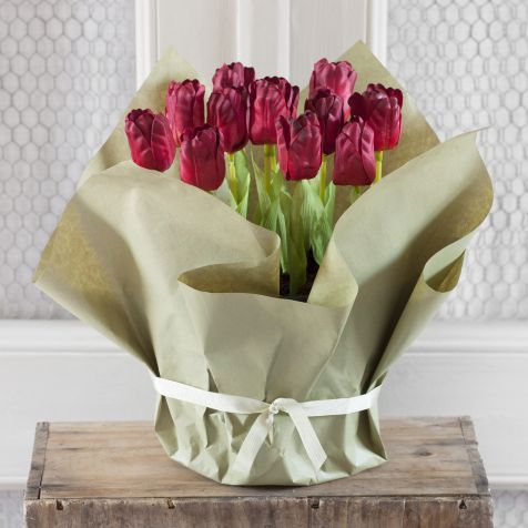Gift Wrapped Tulip Bowl