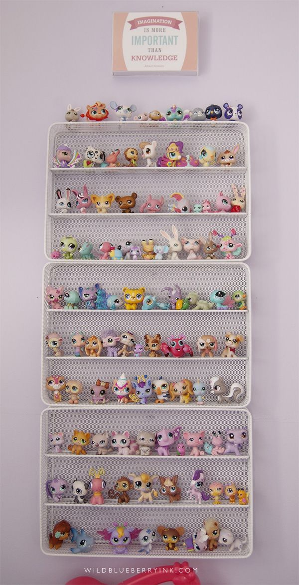 great idea for storing shopkins or any other small collectibles. Just buy metal cutlery tray and attach with picture frame hooks