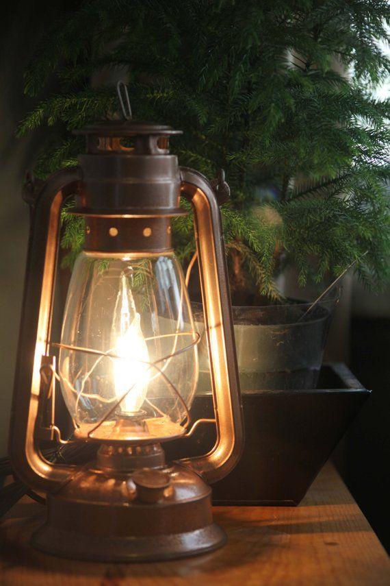 Electric Lantern Table Lamp Copper Finish Dimmer Switch Etsy Lantern Table Lamp Electric Lanterns Copper Lantern