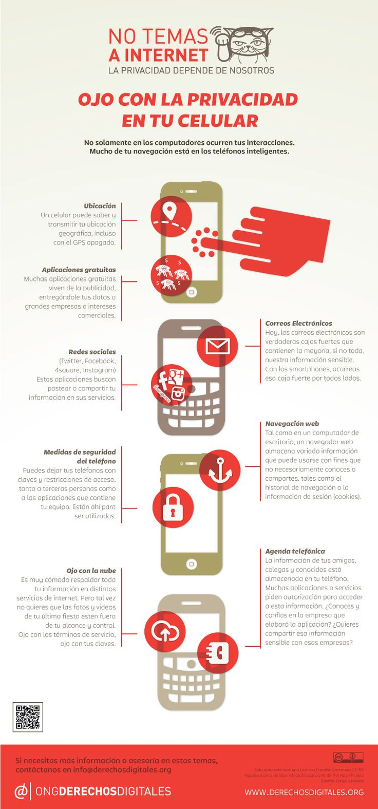 Privacidad en el móvil #infografia #infographic #internet
