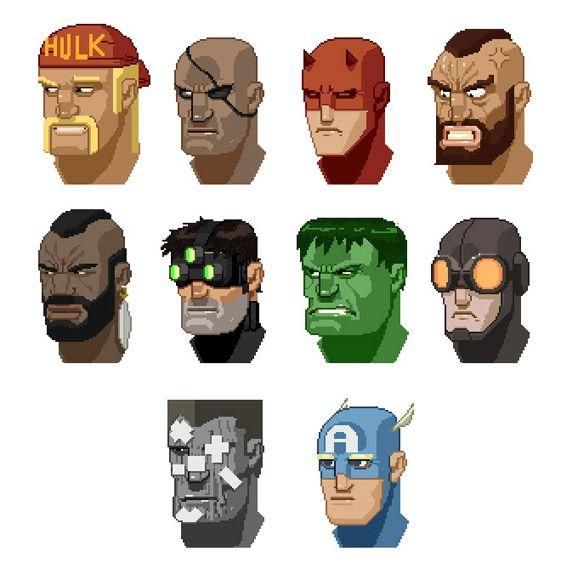 Pixel Faces - Anjin Anhut