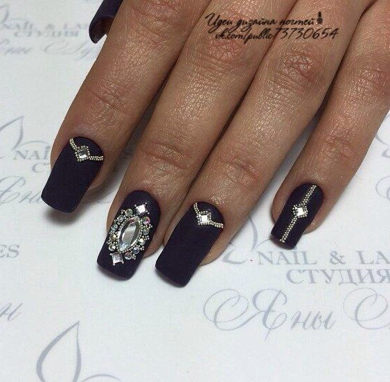 Evening nails by gel polish, Festive nails, Luxurious nails, Luxury nails, Matte…