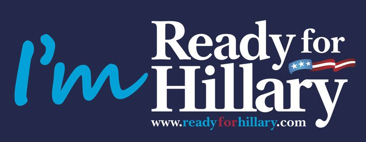 Ready for Hillary Bumper Sticker | Hillary Clinton for President 2016