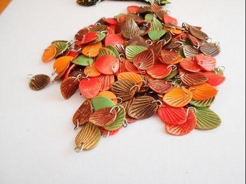 Простые Осенние листочки из полимерной глины