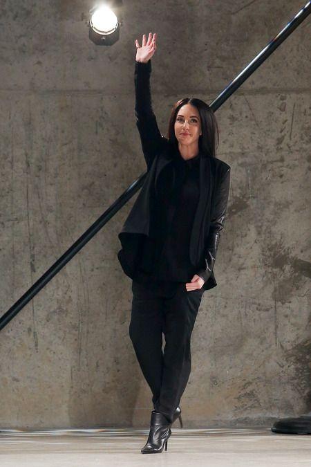 Sally LaPointe | Fall 2014 - Hard Edge Drapey Black Layers.