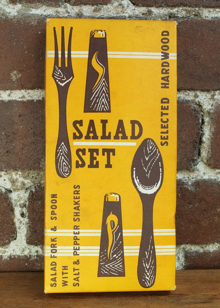 Vintage 70s Salad Set Salt and Pepper Shakers Salad Tongs Servers Hardwood Teak Gold Copper Mid Century Modern Kitchen by CaronsCurios on Etsy