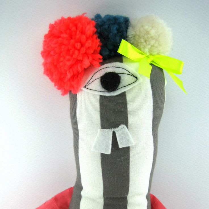 Phoebe founda- Stuffed Toys- Child Friendly- Fabric monster Doll by JazzyRaccoon on Etsy