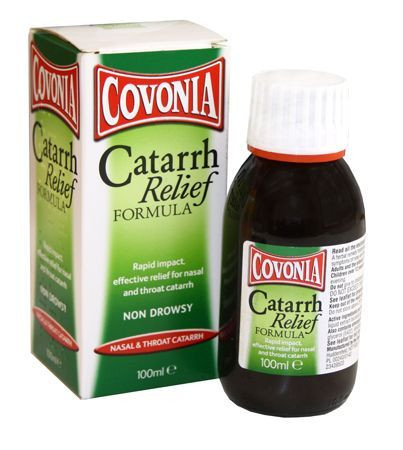 Covonia Catarrh Relief Formula 100ml Covonia Catarrh Relief Formula 100ml: Express Chemist offer fast delivery and friendly, reliable service. Buy Covonia Catarrh Relief Formula 100ml online from Express Chemist today! (Barcode EAN=50113 http://www.MightGet.com/january-2017-11/covonia-catarrh-relief-formula-100ml.asp