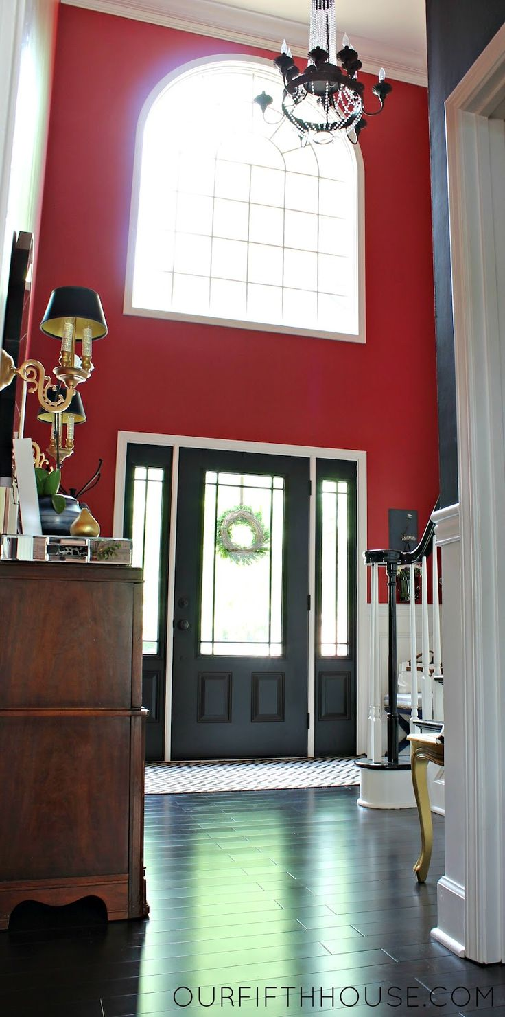 Door Entrance Foyer : Entry foyer with black interior door home decor i like
