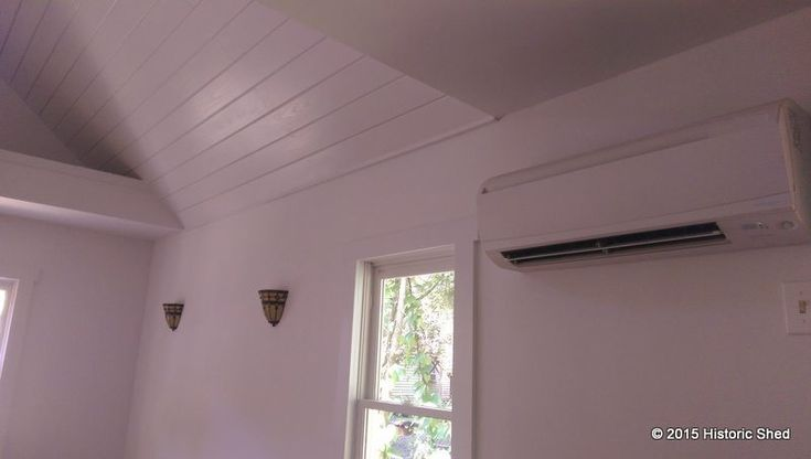 A mini split AC system provides heat and cooling