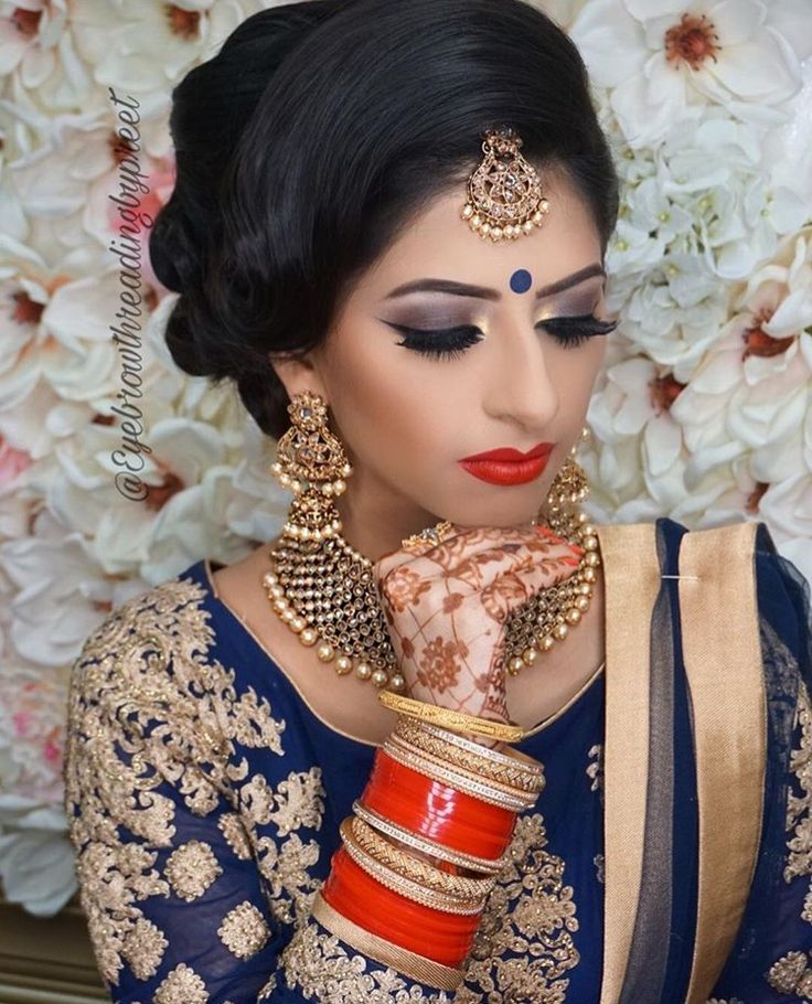 17 Best Ideas About Indian Bridal Makeup On Pinterest | Indian Wedding Makeup Indian Makeup And ...