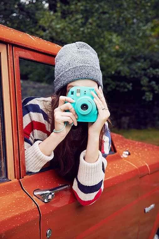 Fujifilm X UO Custom Colored Mini 8 Instax Camera - either color (turquoise/dark blue)