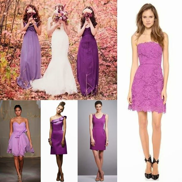 Orchid Short Chiffon Dresses