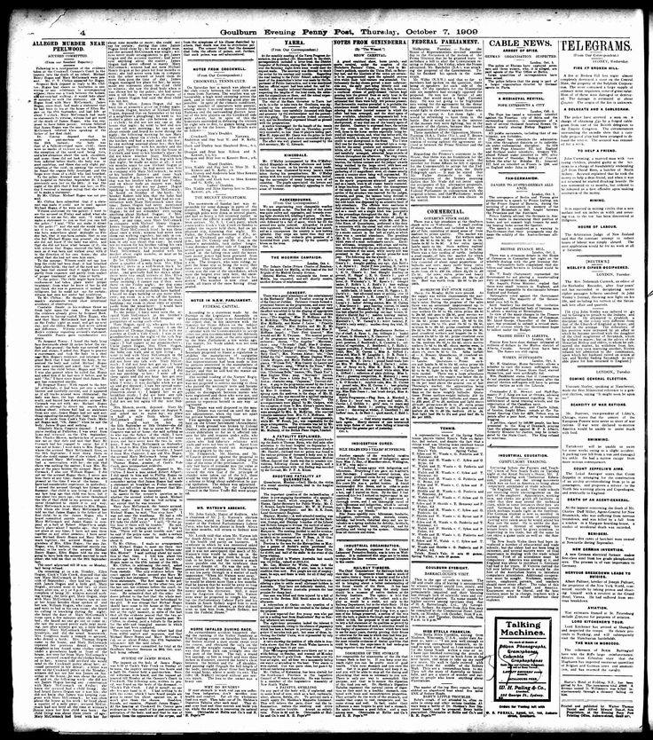 Goulburn Evening Penny Post (NSW) - Australian Newspapers - MyHeritage