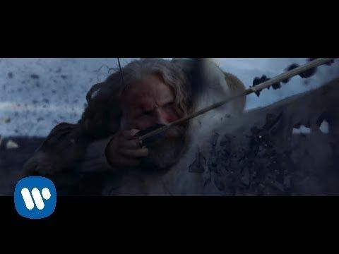 """▶ David Guetta - She Wolf (Falling To Pieces) ft. Sia   The video tells a story- both the video and the lyrics - the she-wolf was once a woman who fell for and loved the hunter, but was shunned because of his guilt when he lay with her - giving into the """"sin"""". The man turned on her and wounded her, and she fell to pieces, becoming the she wolf."""