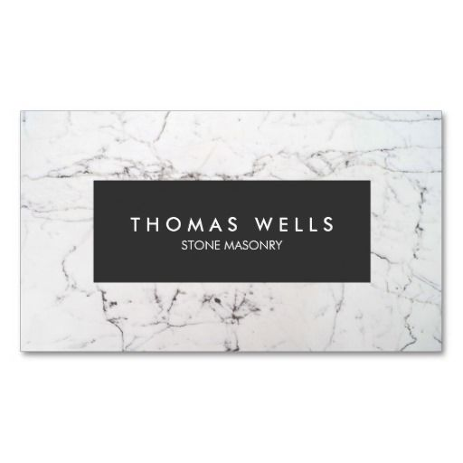 White Marble Stonemason Architect Business Cards. Perfect for contractors, builders, electricians, plumbers, painters and more. Fully customizable and ready to order. customizable business cards | cheap business cards | cool business cards | Business card templates | unique business cards
