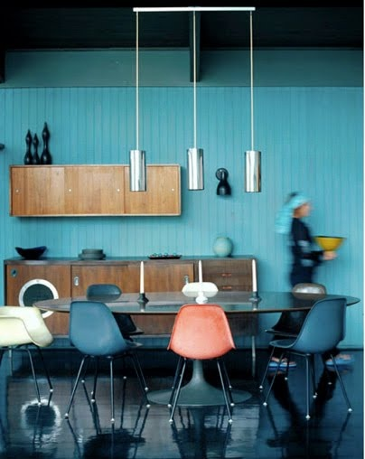 dining roomKitchens Accent, Blue Wall, Interiors, Diningroom, Colors Palettes, Blue Kitchens, Dining Room Colors, Design, Accent Wall