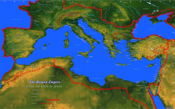Map of Roman Empire ( to go along with The History of Rome, see it under this heading, History) Click on locations to learn more.  A great map. (I love maps)