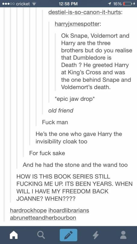 """Okay but the Golden Snitch that Dumbledore gave Harry said, """"I open at the close"""""""