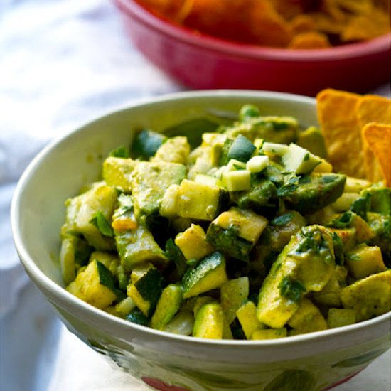 Summer Green Zucchini Guacamole: Take a twist on the classic avocado ...