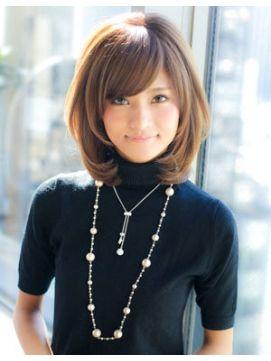アフロート ジャパン AFLOAT JAPANトップにボリューム加え小顔似合わせミディアムヘア