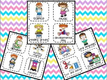 DAILY VISUAL TIMETABLE TASK CARDS - TeachersPayTeachers.com